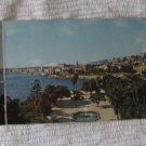 Vintage Panoramic Old Postcard 3 Panel Messina Italy Sea Promenade Color Kodak Ektachrome