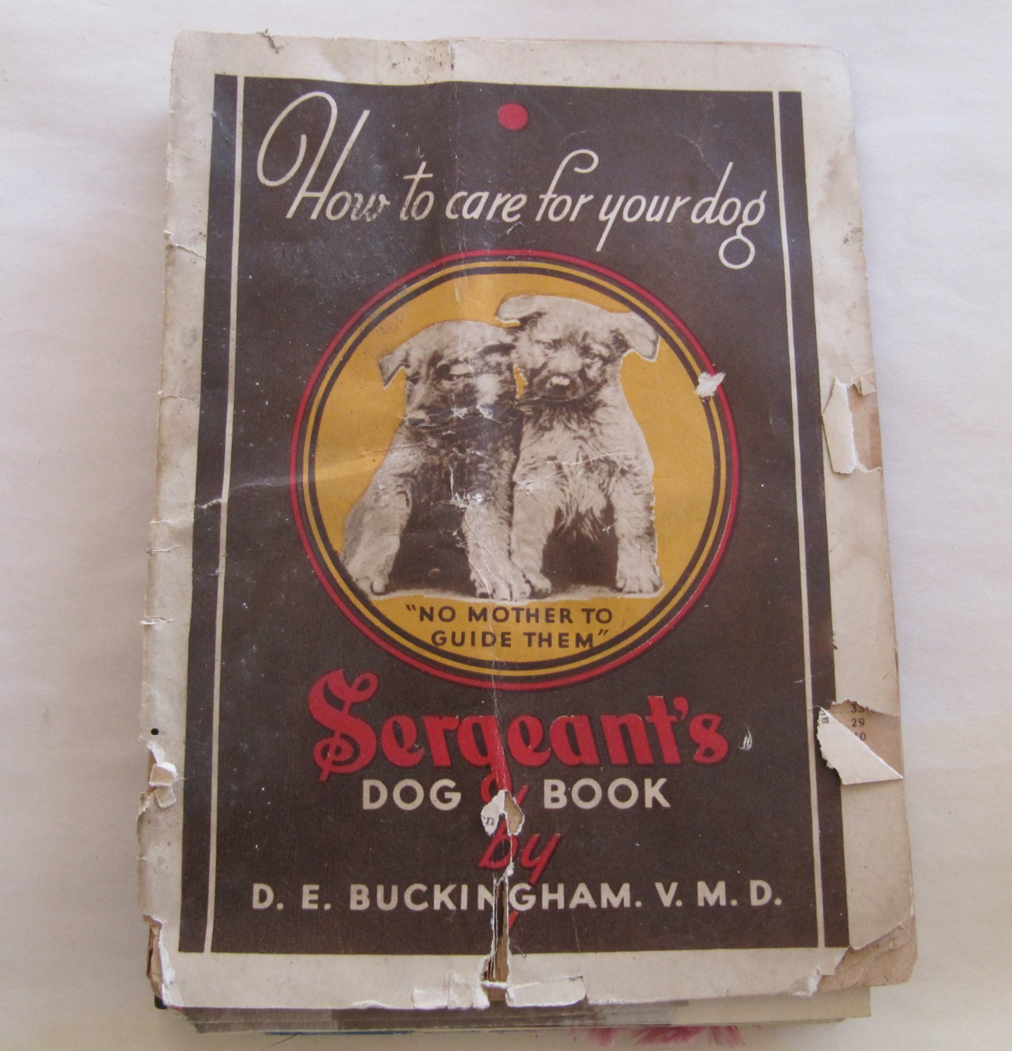 Antique 1934 Sergeant's How to Care for Your Dog Booklet with Photos 47 Pages