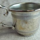 Pyramids Silver Plated Baby Mug Child Mug with Handle in Box 2 x 2.5 In