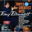 TONY BENNETT Tony's Greatest Hits Columbia CL1229 Original 1958 LP Vinyl Monaural Mono Record Album