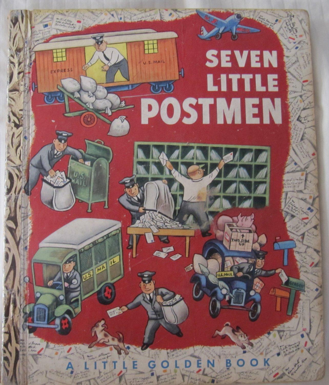 Seven Little Postmen Little Golden Book No. 184 Margaret Wise Brown (c) 1952