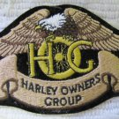 Harley Owners Group HOG Eagle Patch Black Background 4.75 Inch