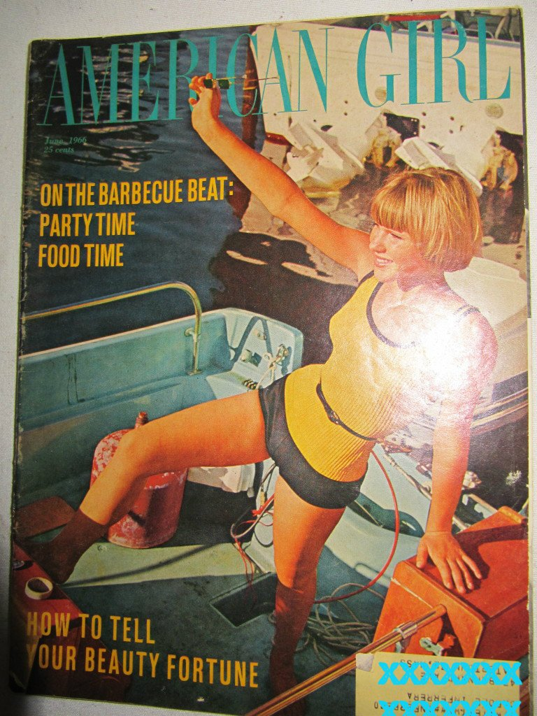 American Girl Magazine June 1966 Vintage 1960s Back Issue On the Barbecue Beat