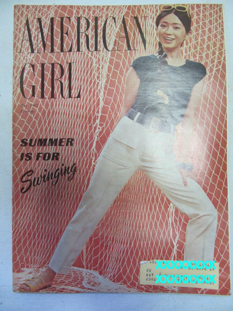American Girl Magazine May 1967 Vintage 1960s Back Issue Summer is for Swinging