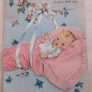 Vintage Greeting Card Congratulations on Your Baby Girl 10A1342