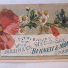 Rare Antique Victorian Business Trade Card Bennett & Moulton's Comic Opera Co.