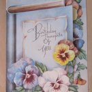 Vintage Birthday Greeting Card Signed by Iride Pilla c. 1943 Boston Conservatory