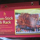 Non-Stick Rib Rack For Grilling Holds 4 Rib Slabs Upright Dishwasher Safe