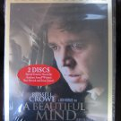 A Beautiful Mind DVD Widescreen 2-Disc Awards Edition New in Shrink Wrap Stars Russell Crowe