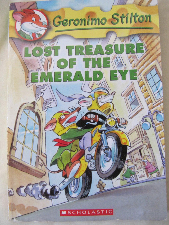 Geronimo Stilton Lost Treasure of the Emerald Eye Children's Paperback Book Color Illust