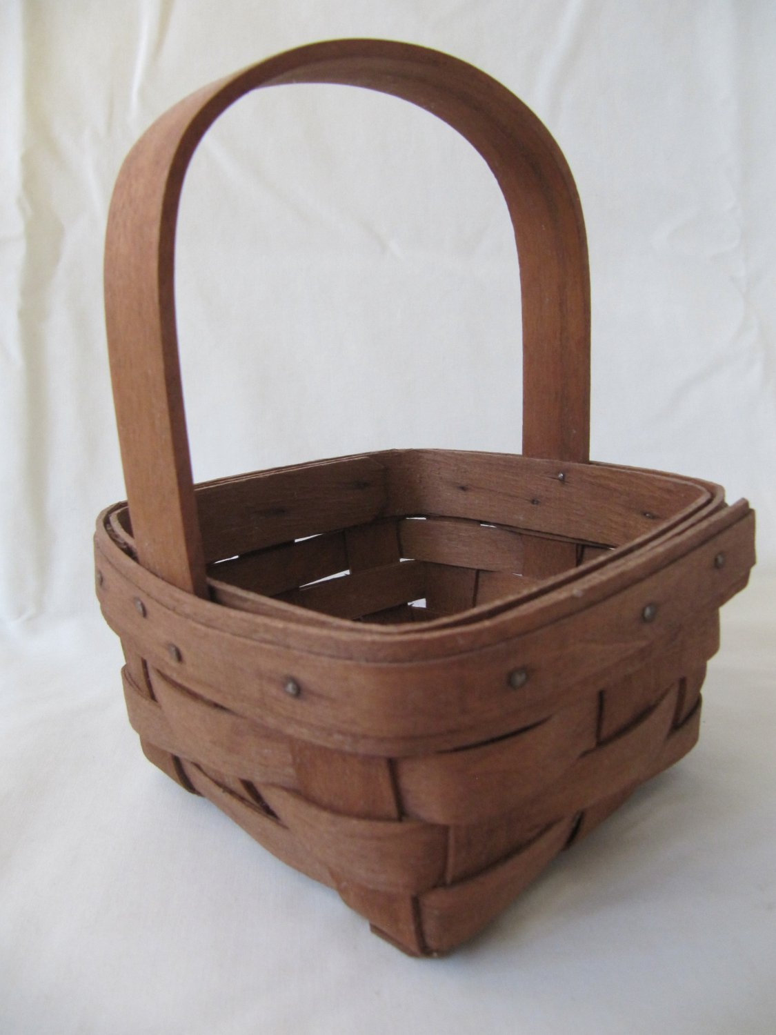 Longaberger Potpourri Basket 1989 Retired Small Traditional Hand Woven Wood with Handle