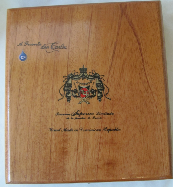 Vintage Arturo Fuente Empty Wooden Cigar Box 8 Inch Warped