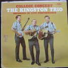 Kingston Trio College Concert Capitol T 1658 Mono Original 1962 Vinyl Record Album