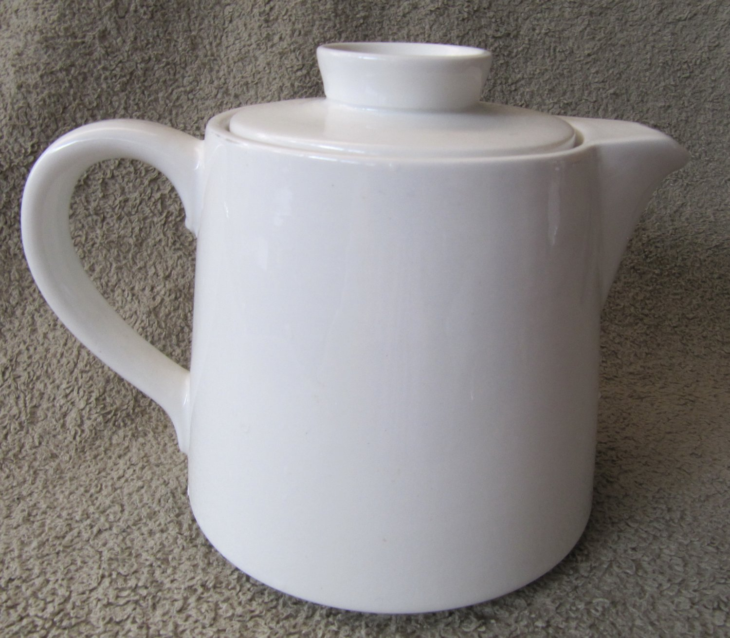 Vintage Cracked Arabia Of Finland White Ceramic Coffee Pot