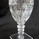 HAWKES Crystal Wine Cordial Glass Square Base Clear Notched Stem 4.875 In Chipped Base W1