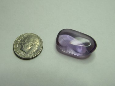 Polished Purple Glass or Stone Loose for Jewelry Making 7/8 Inch