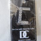 Dickens' Closet Create-a-Collar Crystal Rhinestone Letter L 18mm Pet Charm