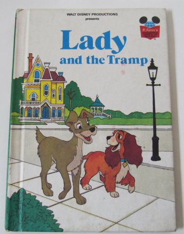 Walt Disney's Lady and the Tramp Hardcover Book Grolier 1981