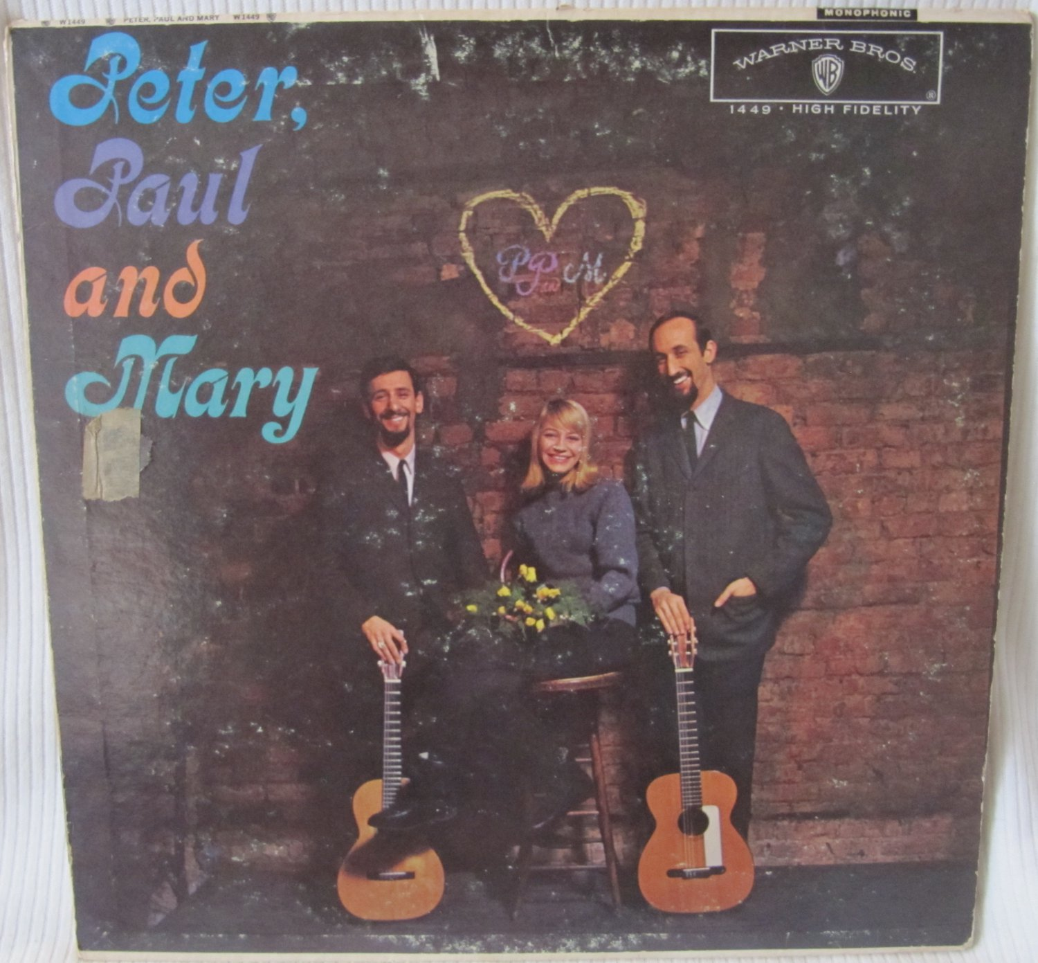 Peter, Paul and Mary Warner W 1449 Mono Original 1962 LP Record Album Vinyl