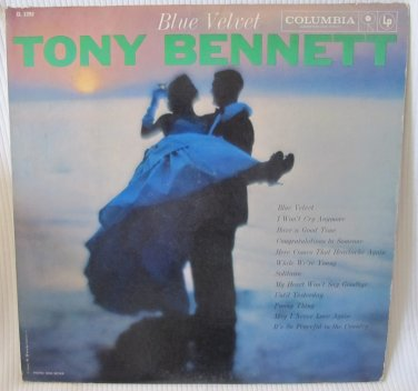 TONY BENNETT Blue Velvet Columbia CL1292 Original 1958 LP Vinyl High Fidelity Record Album