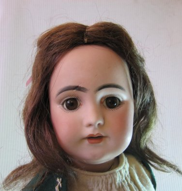 Antique c 1875 17� Simon & Halbig Doll Bisque Head 1009 No. 8 DEP with Fabulous Wardrobe