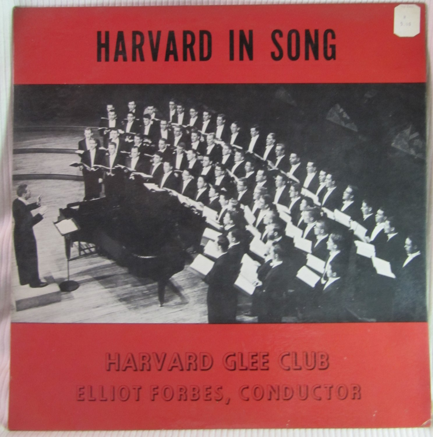 Harvard Glee Club Harvard in Song Elliot Forbes F-HGC-1 Original 1960 LP Vinyl Record Album