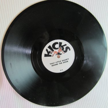Vintage KICKS 78 RPM Vinyl Record Party Baudy That Little Shanty, Gal From Atlantic City