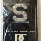 Dickens' Closet Create-a-Collar Crystal Rhinestone Letter S 18mm Pet Charm