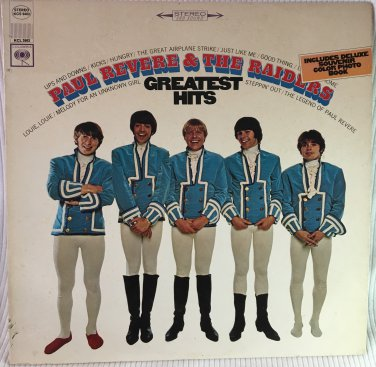 PAUL REVERE & THE RAIDERS Greatest Hits LP Vinyl Record Album Stereo Columbia KCS 9462 1967
