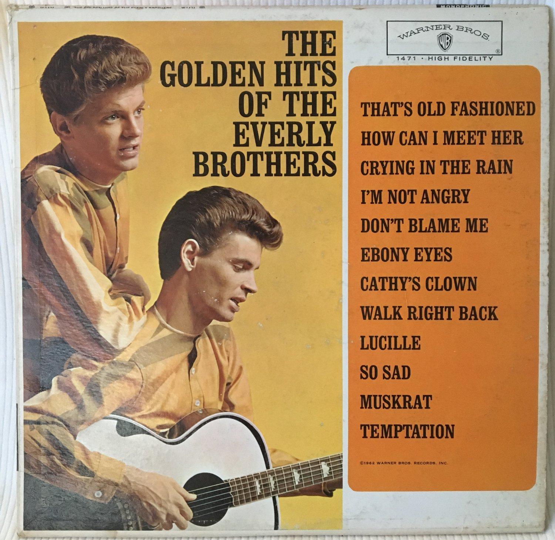 THE EVERLY BROTHERS GOLDEN HITS LP Vinyl Record Album Mono Warner Bros W1471 1962