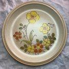 """Hearthside Garden Festival Handpainted Stoneware Dinner Plate Sunshine Flowers 10-1/2"""""""