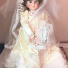 "SHADER China Doll Francoise 02615 No. 36 17"" Porcelain Bisque Bride Blue Eyed Lt Brown Hair"