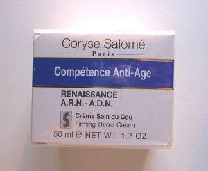 S0082 Coryse Salome COMPETENCE ANTI-AGE RENAISSANCE A.R.N.-A.D.N. FIRMING THROAT CREAM, 1.7 Oz(50ml)