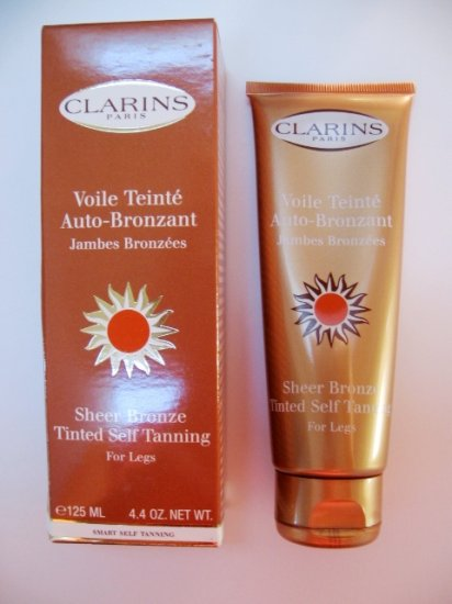 CLARINS SHEER BRONZE TINTED SELF TANNING FOR LEGS, 125 ML