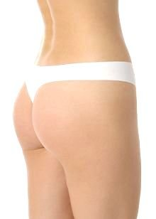 A0256 CALVIN KLEIN WHITE NAKED UNFINISHED EDGE THONG F2636-100, SIZE MEDIUM