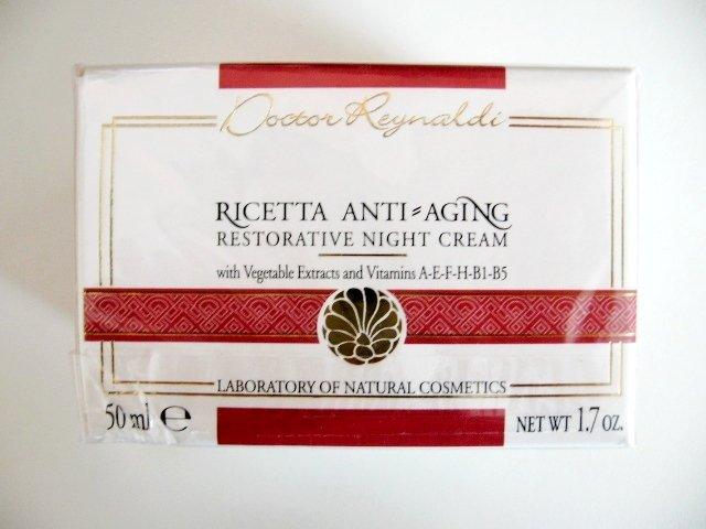 S0157 Dottoressa Reynaldi Ricetta Anti-Aging Restorative Night Cream 50ml New