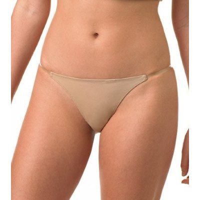 DONNA KARAN SOLUTIONS NUDE INVISIBLE CLEAR STRAP G-STRING, 342563, SIZE MEDIUM