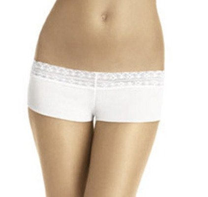 A0509 CALVIN KLEIN WHITE MESH MODERN HIPSTER WITH LACE D3173, SIZE MEDIUM