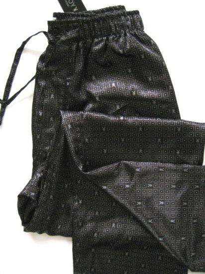 A0018 Playboy Men's Black Satin Lounge Pant PPY581, SIZE MEDIUM