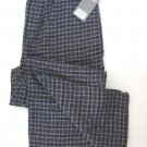 A0027 PERRY ELLIS NAVY GRID KNIT LONG SLEEP PANT 862518, SIZE LARGE