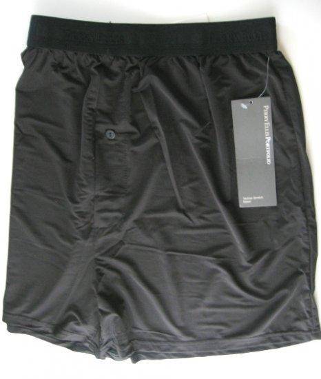 A0103 PERRY ELLIS PORTFOLIO TECHNO-STRETCH BLACK BOXER 163633, SIZE MEDIUM
