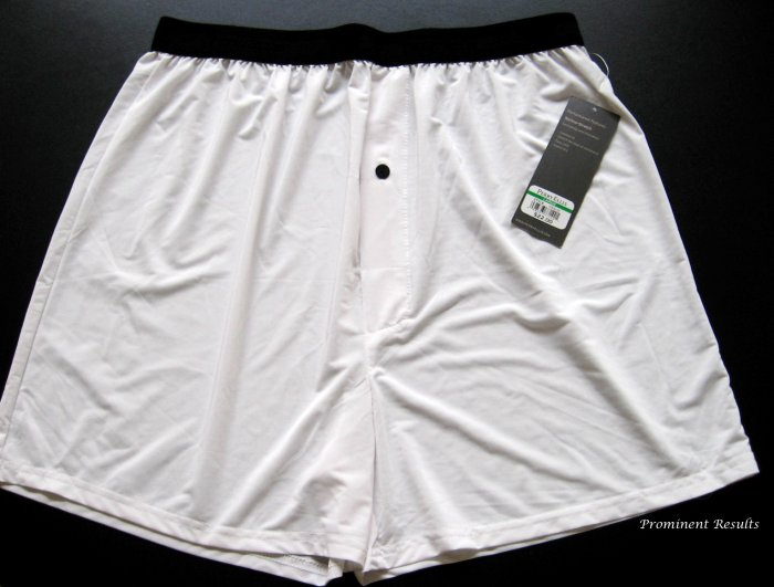 A0103 PERRY ELLIS PORTFOLIO TECHNO-STRETCH WHITE BOXER 163633, SIZE LARGE