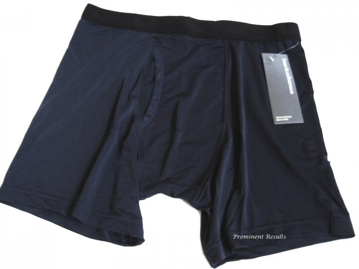 A0104 PERRY ELLIS PORTFOLIO TECHNO-STRETCH NAVY BOXER BRIEFS 161633, SIZE LARGE