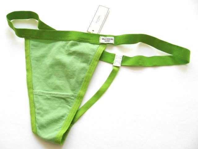 A0096 ABERCROMBIE GILLY HICKS SYDNEY LIME COTTON G-STRING, SIZE SMALL