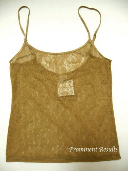 A0238 Calvin Klein Perfect Fit lace Camisole F2858 DUNE SIZE MEDIUM