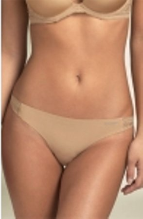 A327 CALVIN KLEIN PERFECT FIT LACE THONG D3228 NUDE SIZE LARGE