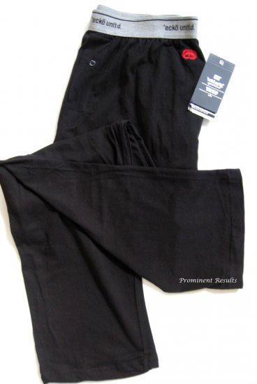 A0375 ecko unltd Men's Black Logo Knit Lounge Pant EK8001P SIZE MEDIUM