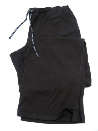 A387 CALVIN KLEIN BLACK  JERSEY P J PANT W/DRAWING STRING S0500D, SIZE SMALL