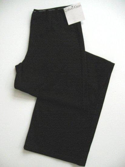 A0388 CALVIN KLEIN BLACK  JERSEY LOGO WAISTBAND P J PANT S1070D, SIZE MEDIUM