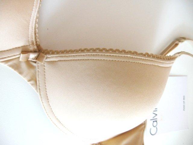 A0403 Calvin Klein STRETCH PUSH-UP Bra F2687D NUDE SIZE 34C